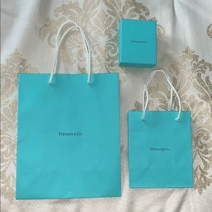 Tiffany & Co. shopping bags and box